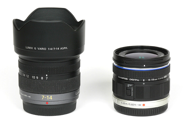 However The Panasonic Lens Has A Fixed Hood So It Remains Bigger Package In Any Case